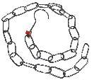 Detail produktu Řetěz s háčkem kovový 1m, pozink