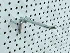 Detail produktu Jednoduchý háček Ø6mm, 10cm na děrovaný panel