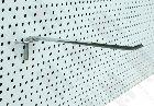 Detail produktu Jednoduchý háček Ø6mm, 25cm na děrovaný panel