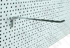 Detail produktu Jednoduchý háček Ø6mm, 30cm na děrovaný panel