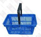 Detail produktu košík nákupní plastový s 1 držadlem. Modrý