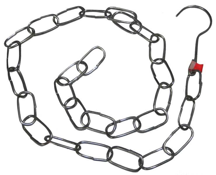 Detail produktu Řetěz s háčkem kovový 1m
