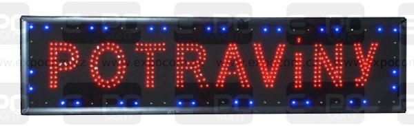 Detail produktu Informační display s LED diodami POTRAVINY