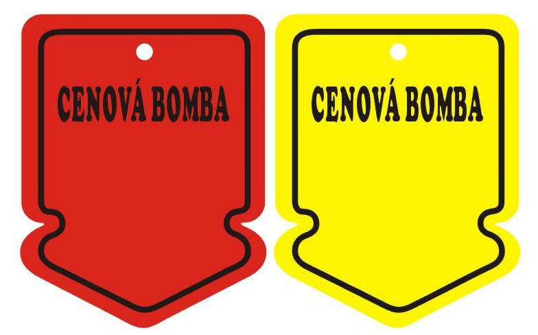 Detail produktu Visačky šipka CENOVÁ BOMBA