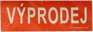 Detail produktu Banner VÝPRODEJ šířka99xvýška33cm, červený