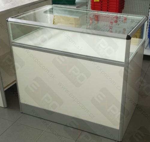 Detail produktu Prodejní pult prosklený D100xH60xV90cm