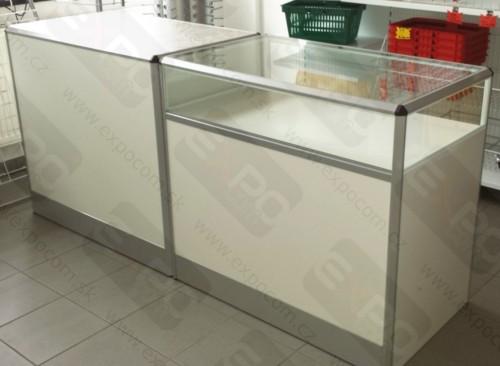 Detail produktu Prodejní pult kombinovaný D200xH60xV90cm