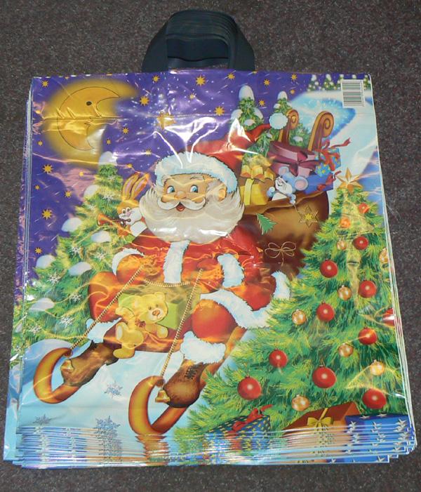 Detail produktu Tašky vánoční 43x50cm se 2 uchy.