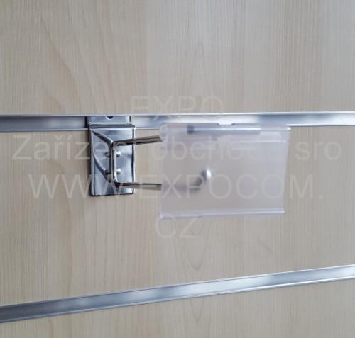 Detail produktu Jednoduchý háček 20cm s hrazdou  s plastovou visačkou