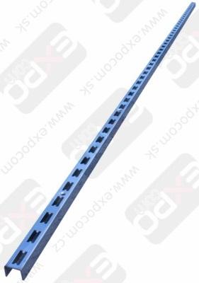 Detail produktu Stojna s dvojitými drážkami, 240cm. Chrom SLEVNĚNO
