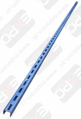 Detail produktu Stojna s jednoduchými drážkami, chrom, 120cm