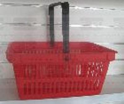 Detail produktu Nákupní košík plastový s 1 držadlem. Červený