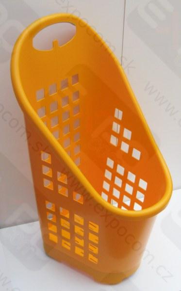 Detail produktu košík nákupní vozík plastový pojízdný