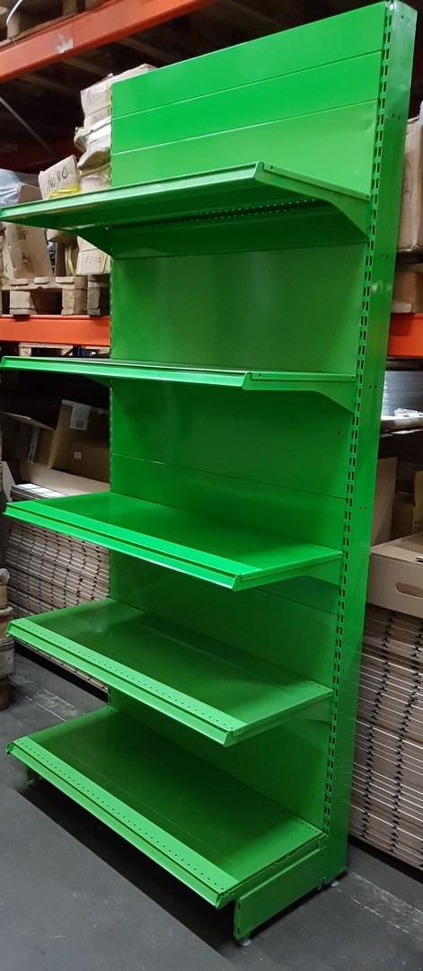 Detail produktu použitý bazar regál jednostranný zelený